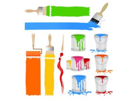 Flexible water borne paints